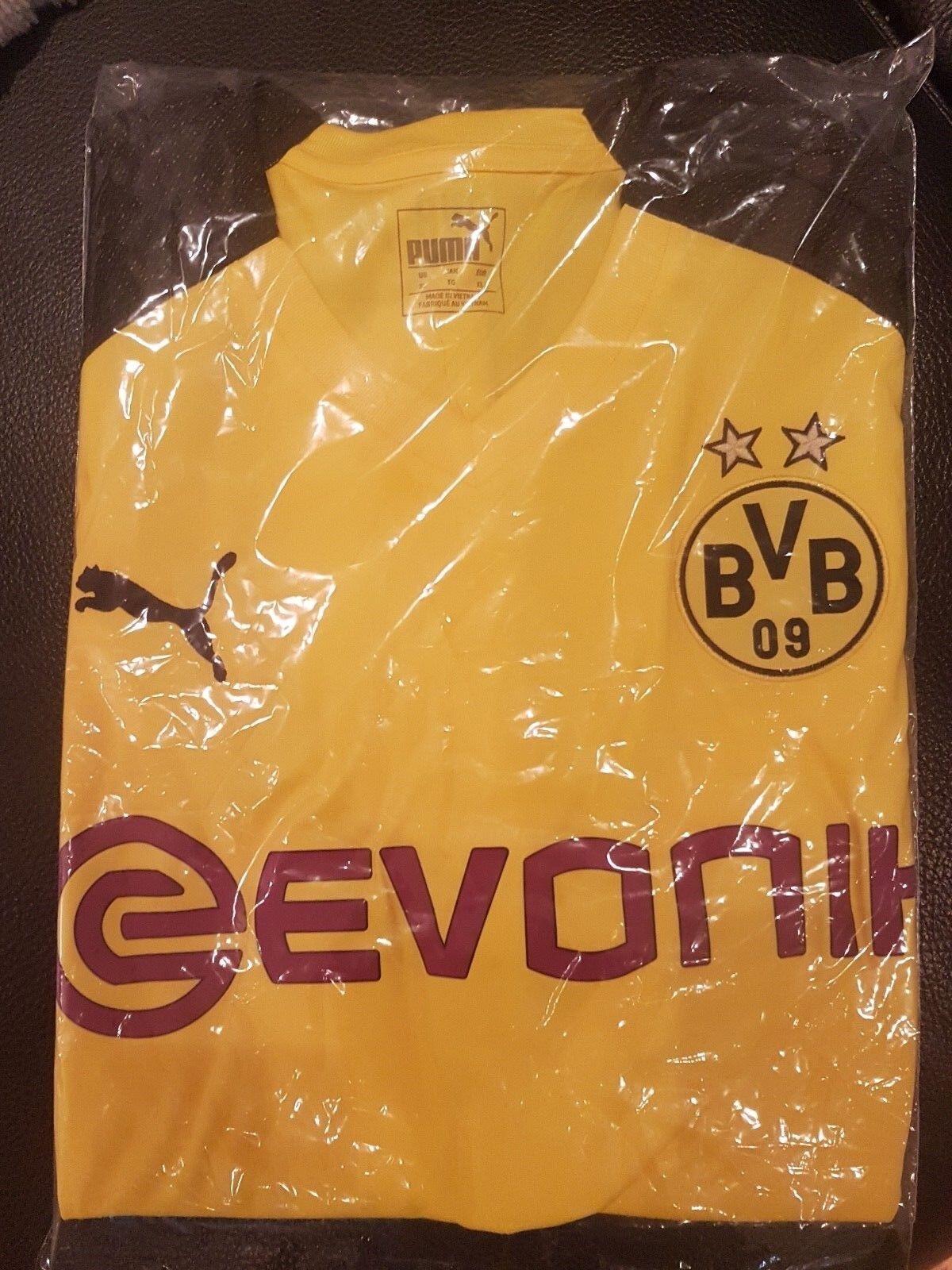 Original BORUSSIA DORTMUND HOME TRIKOT 2018/19 mit Bundesliga Logo Gr. XL