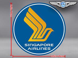 SINGAPORE AIRLINES ROUND LOGO STICKER / DECAL