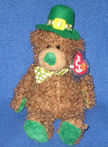MINT with MINT TAGS TY PATTY O/'LUCKY the BEAR BEANIE BEANIE TY EXCLUSIVE
