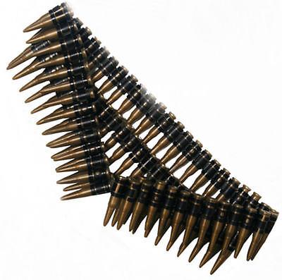 """Bandolier Belt Plastic 60/"""" Bullet Belt Gunfighter Soldier Bandit 55683"""