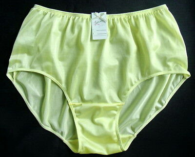 """Full Briefs Knickers Shiny Nylon Panties SZ-8 Hip 40-43"""""""