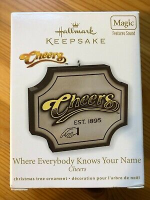 Hallmark  Cheers  Where Everybody KNows Your Name  Magic Sound Ornament