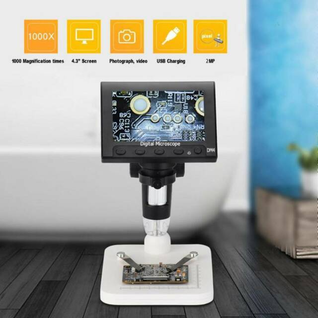 for Industrial PCB Checking Aluminum Alloy Bracket Digital Microscope BTER 4.3 Display Magnifier Digital Magnifier