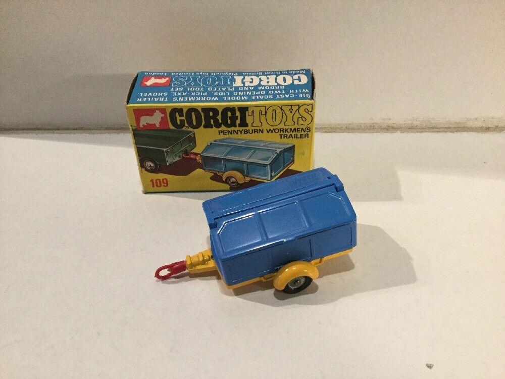 Corgi Toys 109 Pennyburn obreros's remolque casi nuevo y sin usar en caja