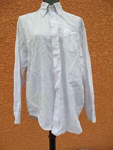 codice promozionale bc178 eb70b Dettagli su Camicia di BURBERRY 16'' 41CM Bianco Coppia Micro Macchie