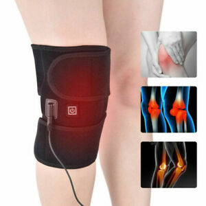 Electric-Heated-Knee-Pad-Warm-Leg-Wrap-Belt-Brace-Arthritis-Pain-ReliefDD