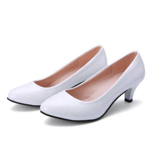 Women/'s Mid High Heel Work Smart Wedding Court Shoes Pumps Office Low