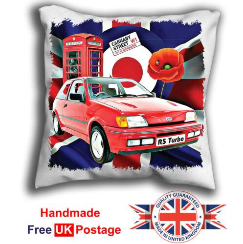 Poppy, Fiesta Cushion Fiesta RS Turbo Cushion Cover Union Jack,Target