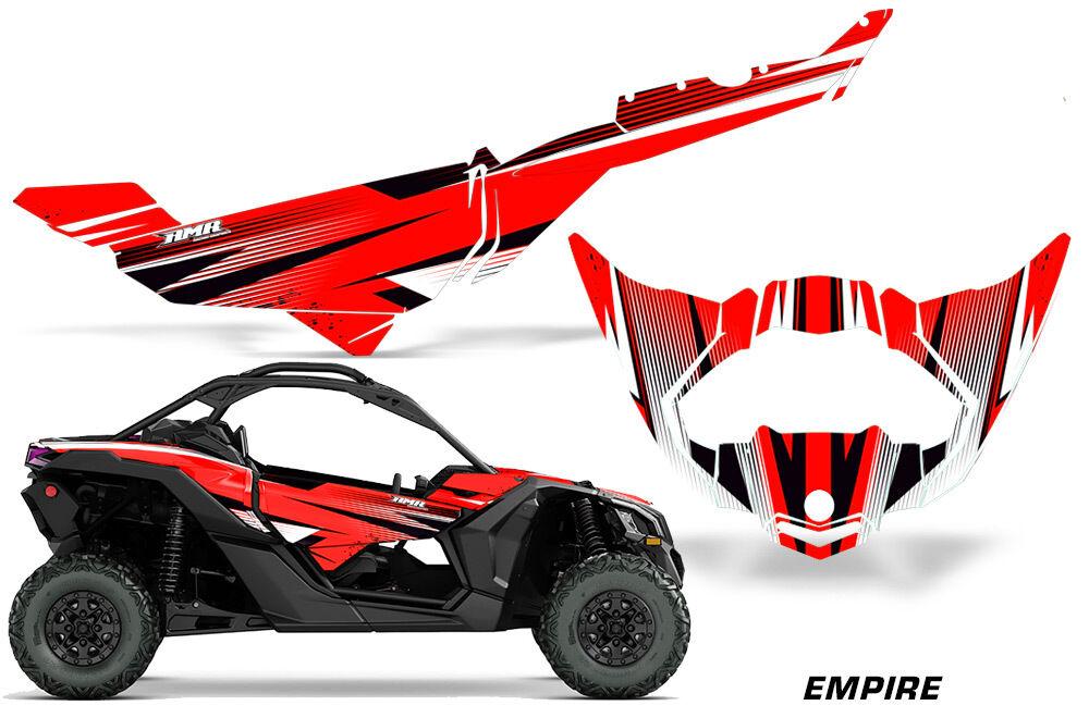 Utv Aufkleber Grafik Kit für Can-Am Maverick X3 Ds Ds Ds Rs 2016-2018 Empire Rot 54bb80