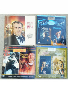 HOUSE-OF-WAX-TOMB-LIGEIA-LASERDISC-HORROR-VINCENT-PRICE-MONSTERS-MOVIES-LUGOSI