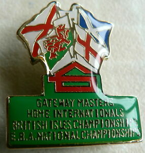 GATEWAY MASTERS BRITISH ISLES CHAMPIONSHIPS EBA NATIONALS BOWLS BADGE - <span itemprop='availableAtOrFrom'> Wiltshire, United Kingdom</span> - GATEWAY MASTERS BRITISH ISLES CHAMPIONSHIPS EBA NATIONALS BOWLS BADGE -  Wiltshire, United Kingdom