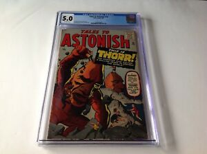 TALES-TO-ASTONISH-16-CGC-5-0-THORR-JACK-KIRBY-STEVE-DITKO-ATLAS-COMICS