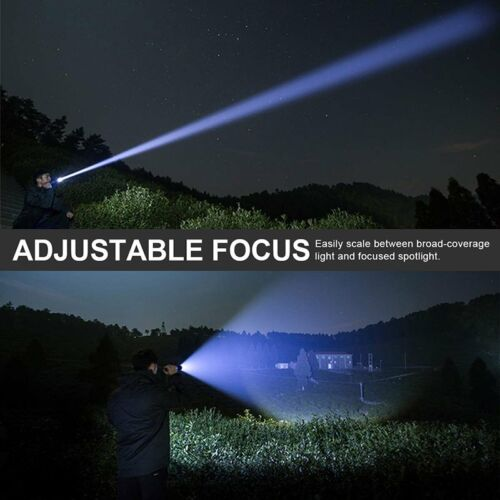 350000LM Zoomable Focus XHP70 LED USB Rechargeable Torch Flashlight  SuperBright