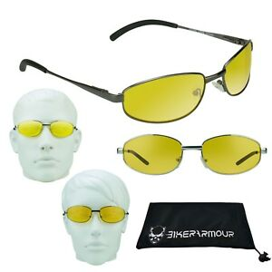5d7ef365f21 YELLOW Night Vision HD Glasses Driving Anti Glare Shooting Cycle ...