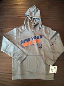 buy popular dfb93 6bfc0 Details about New York Mets NEW Youth Medium Performance Hooded Sweatshirt  . MLB Baseball NWT
