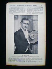 PERCY HONRI ACCORDION PLAYER MUSICIAN SOUTHEND-ON-SEA HIPPODROME ARTICLE 1911