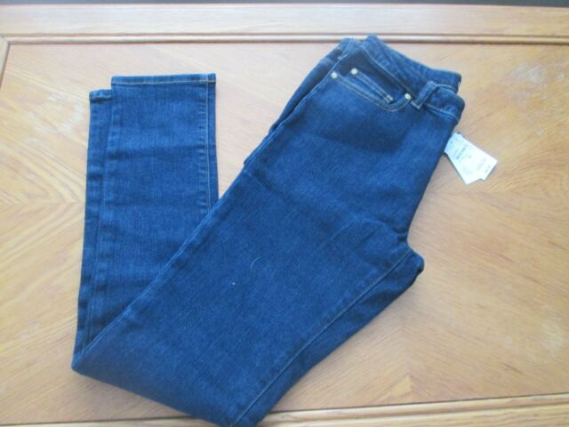 806614cdc4e GIRLS SIZE 14 SKINNY ADJUSTABLE WAIST LANDS END DENIM JEANS - NEW WITH TAGS