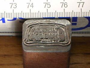 PEUGEOT-LOGO-schoener-Oldtimer-Stempel-Siegel-aus-Metall