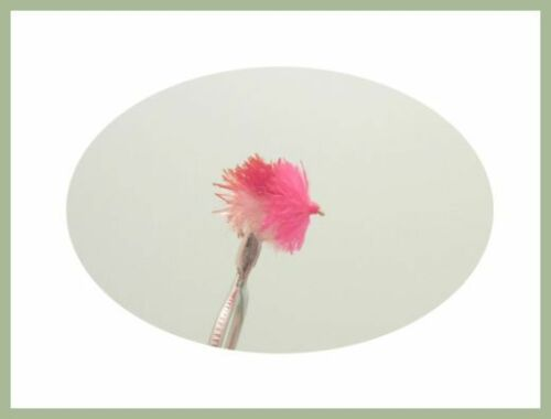Blob Trout Flies 6 Pack Three Tone Red//White//Pink Blob Size 10 Fishing flies