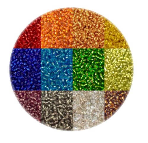 Pick your Colour 50 gms 3300pcs Silver Lined 11//0 Glass Seed Beads