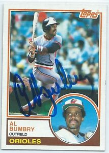 Details About Al Bumbry Signed 1983 Topps Baseball Card Baltimore Orioles Autograph 655