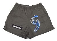 Nittaku Table Tennis Women's Gray Jersey Lined Shorts Sz Xl
