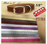 Small Leather Puppy Collars - Custom Cat Collars Made In Usa - Free Shipping