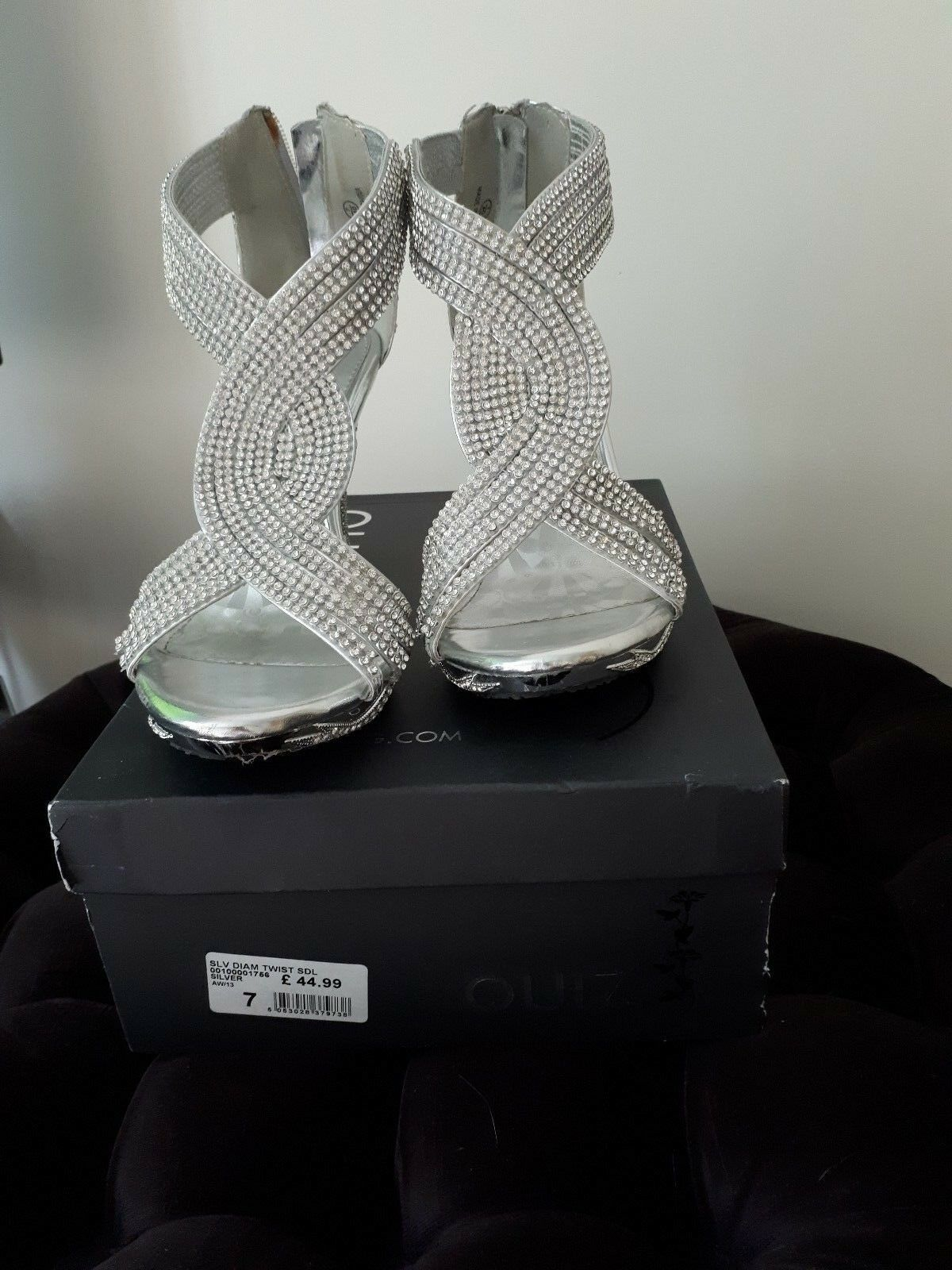 Quiz party club wear shoes 7 silver