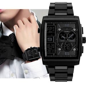 Large-Square-Men-039-s-Military-Sports-Analog-Digital-Outdoor-Waterproof-Wrist-Watch