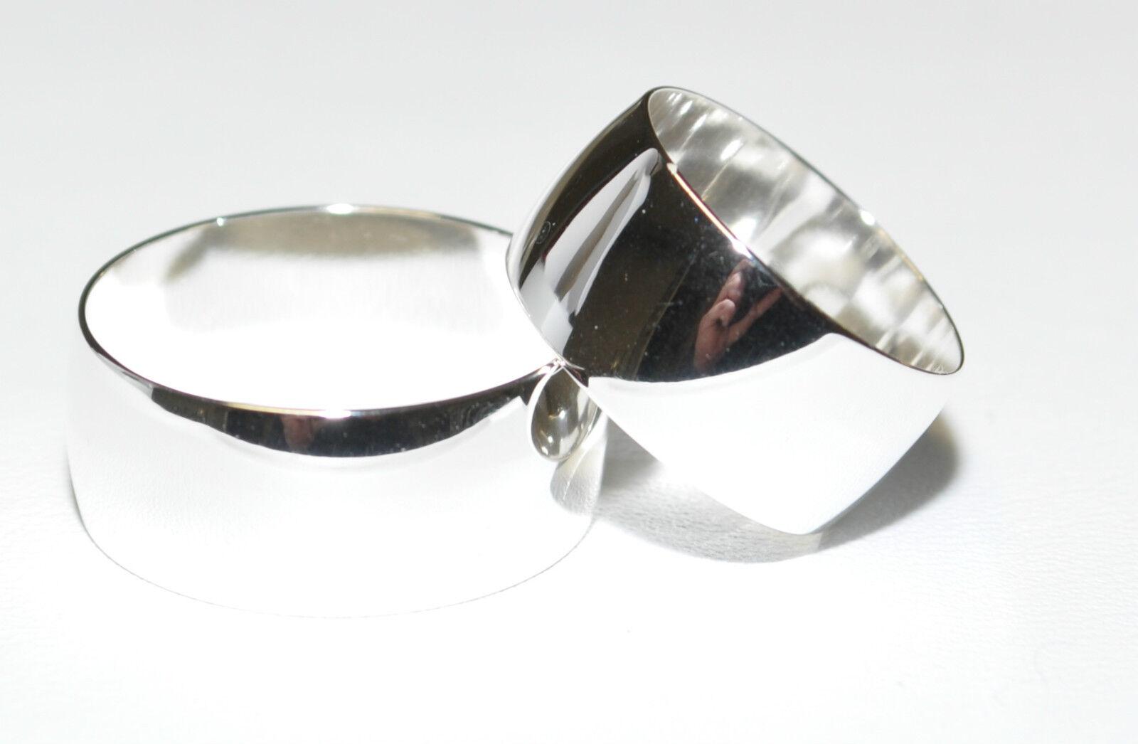 925 silver - Ehering - Trauring - Partnerring - 9 mm Breit - Alle Größen   Excl.
