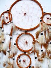 Big Handmade Hanging Natural Feather Dream Catcher Decor Traditional Ornament #F