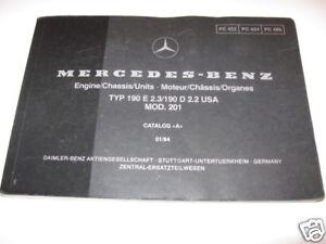 mercedes w201 engine chassis units parts manual 190e ebay rh ebay com