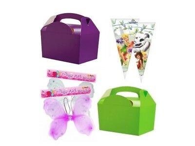 Boys Girls Fairy Fairies Birthday Picnic Food Loot Lunch Party Treat Box Boxes