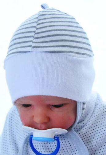 32-45 Mütze Erstlingsmütze Babymütze Haube Mützchen Frühchen Neugeborene Reborn