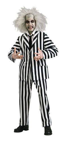 Beetlejuice Grand Heritage Adult Costume Mens Black White Suit Halloween