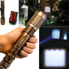 3000 Lumen Focus CREE XML T6 LED Flashlight Zoomable Torch Lamp +18650 2*Battery