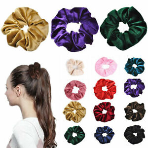Velvet-Scrunchies-Ponytail-Holder-Hair-Accessories-Lot-Elastic-Hair-Band-Fa-A8G5