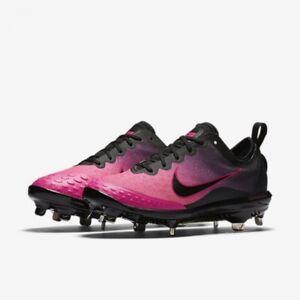 7405665a0 Nike Lunar HyperDiamond 2 Elite sz 12 Softball Cleats Pink Black ...