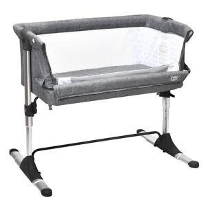 Co-Sleeper-Baby-Bassinet-Cot-Crib-Bedside-Adjustable-Height-W-Mattress-amp-Bag