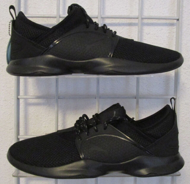 huge selection of 9396e c28f7 Men's PUMA Dare Lace SNEAKERS Solid Black Sport Life Running Shoes Sz 7.5
