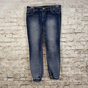 Rue-21-Womens-Juniors-Size-Large-Regular-Curvy-Jeans-Denim-Jogger-Pants