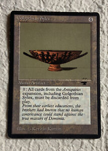 Golgothian Sylex Played Antiquities 1994 Reserved List Mtg Magic the Gathering