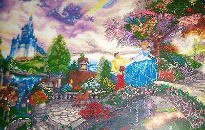 Disney Dreams Collection✿NEW**✿Cross Stitch Kit Kinkade Cinderella Wishes 16x12