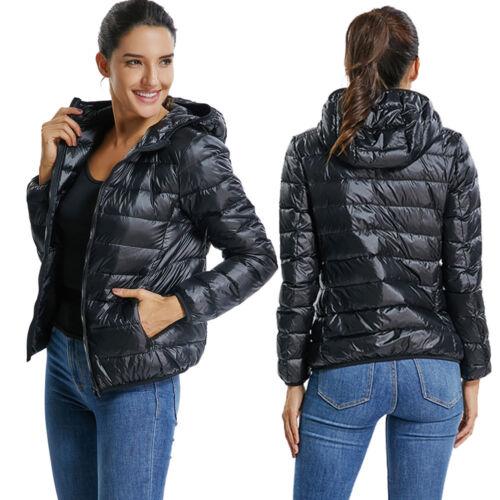 Womens Lady Down Jacket Ultra Lightweight Packable Puffer Down Jacket Outerwear