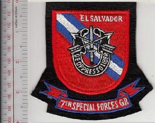Green Beret US Army El Salvador 7th Special Forces Group ABN Fort Gulick CZ sm