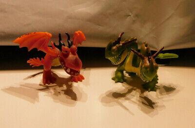 2 How Train Your Dragon Figures Orange Hookfang Green 2 Headed Barf Belch Ebay
