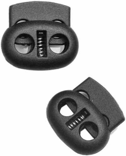 Arrêt cordon serre cordon 2 trous en plastique noir 50 pcs 4,5 mm autobloqueurs