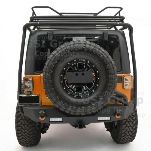Rear Spare Tire License Plate Relocation Bracket Kit  For 07-18 Jeep JK Wrangler