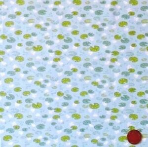 LILYPADS-ON-LIGHT-BLUE-BY-LEWIS-amp-IRENE-COTTON-FABRIC-FQ