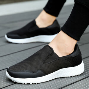 7b3450a08 Image is loading Men-Running-Shoes-Mesh-Fashion-Driving-Sports-Sneakers-